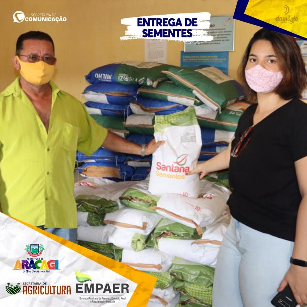 Prefeitura Municipal de Araçagi distribuiu sementes em parceria com a EMPAER
