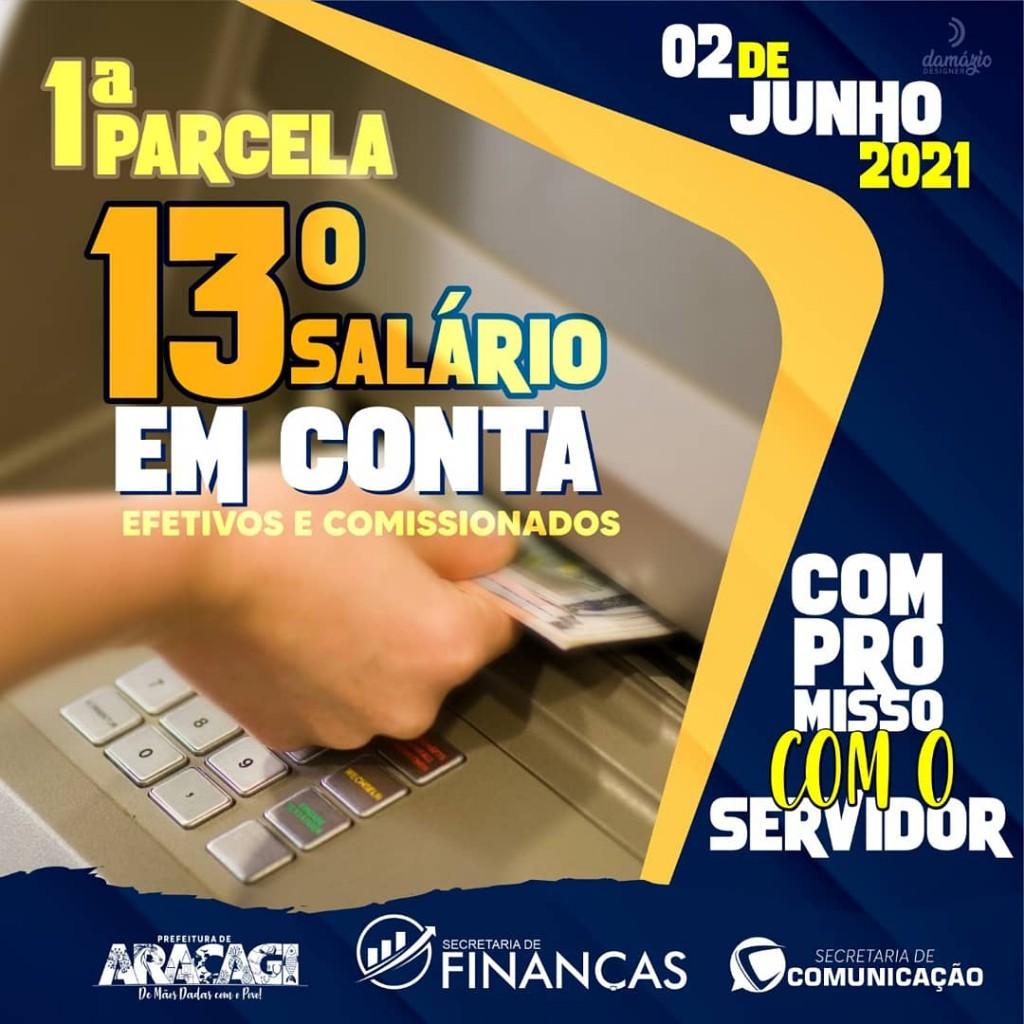 Prefeitura de Araçagi paga a primeira parcela do 13° salário para efetivos e comissionados nesta quarta (02)