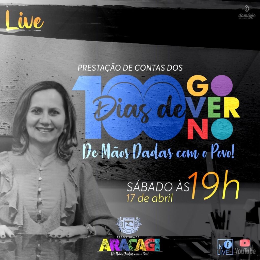 """Prefeitura de Araçagi realizará no próximo sábado (17), a """"Live dos 100 dias governo"""""""