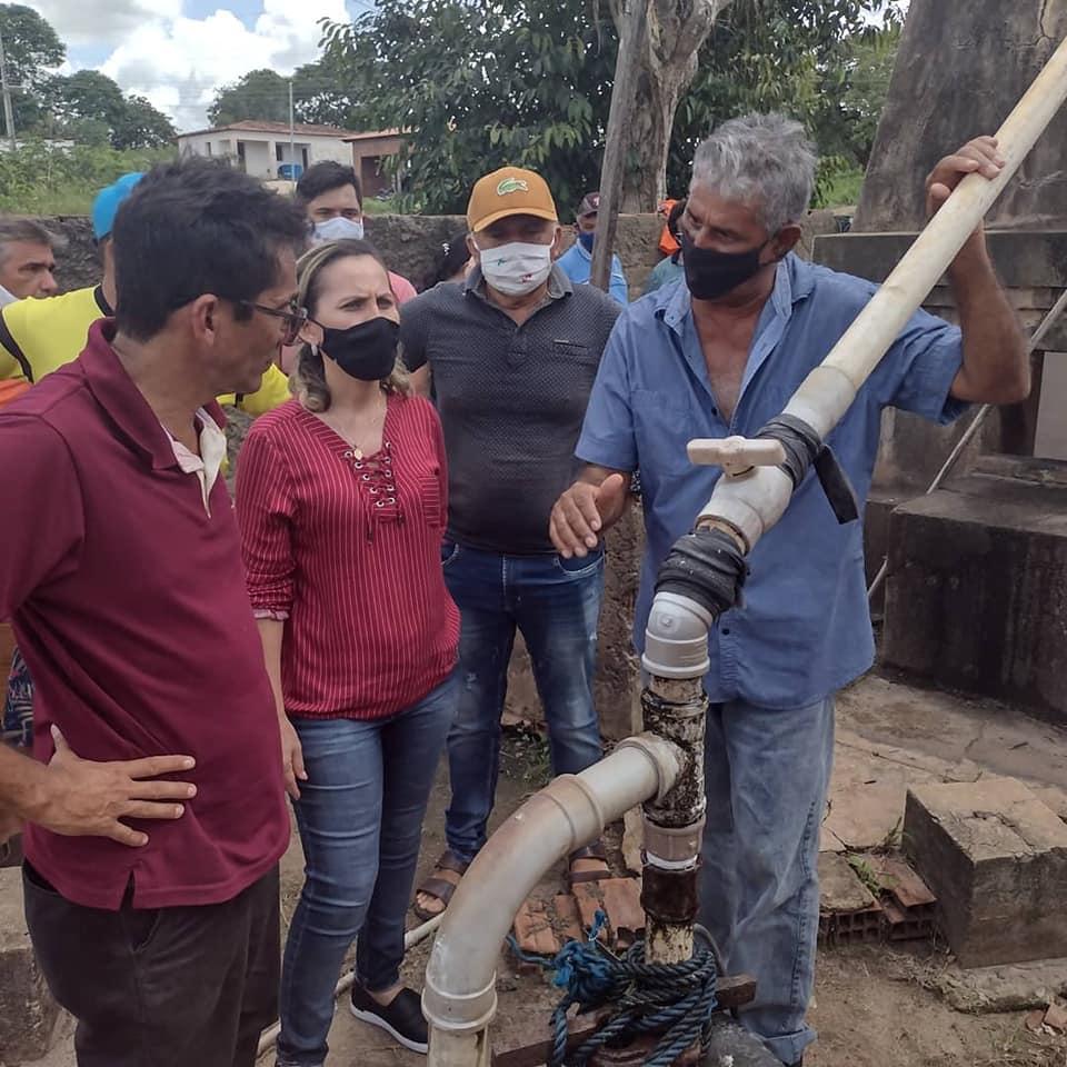 Prefeita Josilda Macena visita  Lagoa do Felix e comunidade já recebe benfeitorias