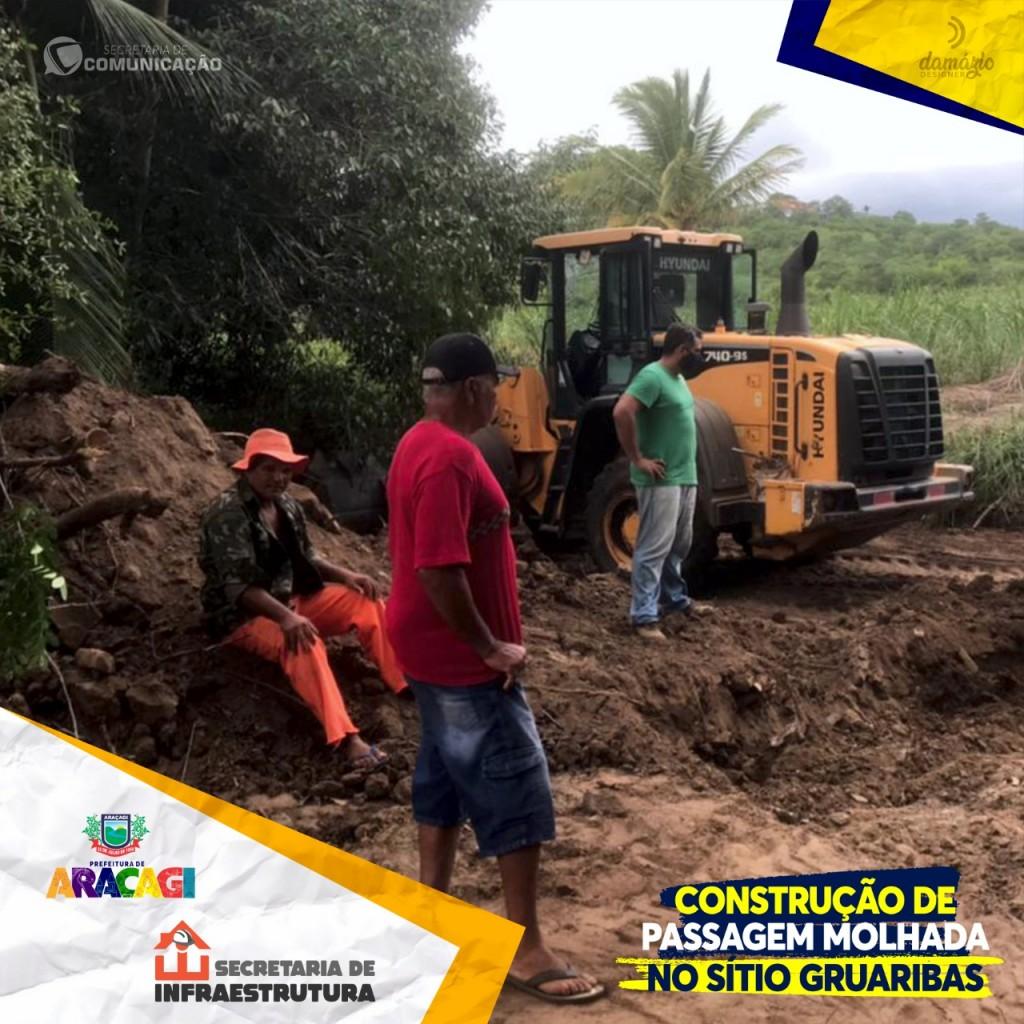 Prefeitura inicia construção de passagem molhada no sítio Guaribas
